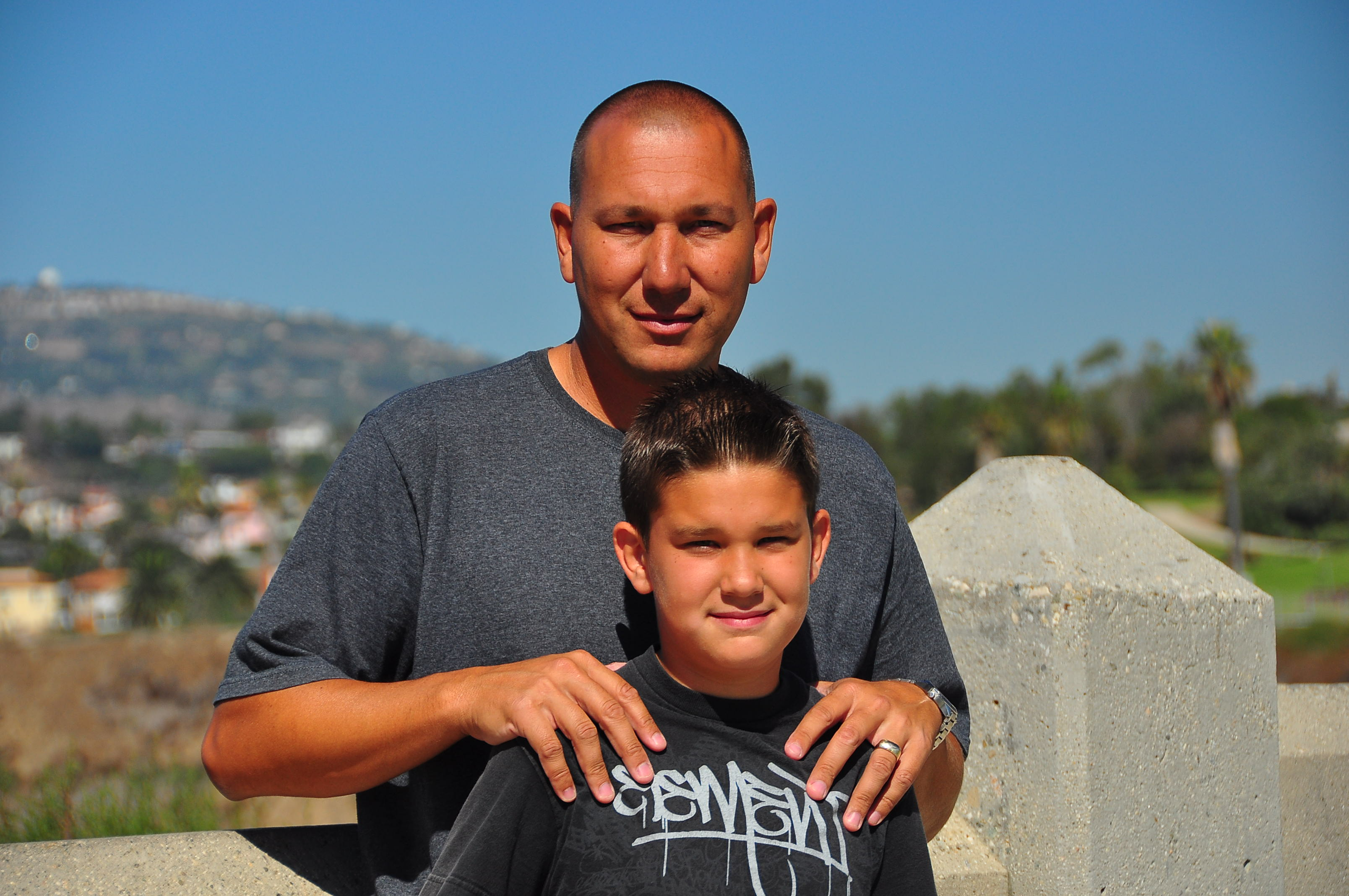 Brandon with his youngest son Brian